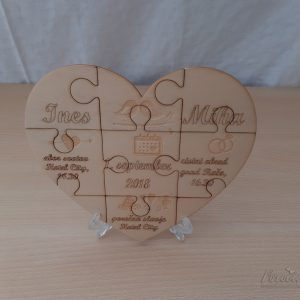 Leseno poročno vabilo