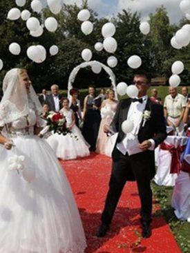 Izpust balonov na poroki