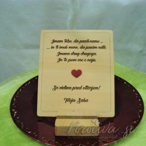 Lesena poročna zahvala