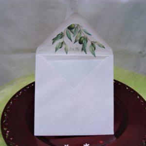 Poročna kuverta Zelenje 112