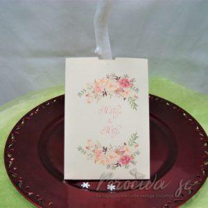 Poročna vabila Cvetje 094
