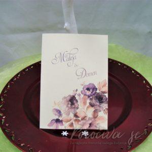 Poročna vabila Cvetje 097