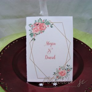 Poročna vabila Cvetje 098