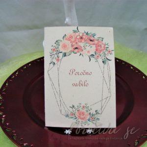 Poročna vabila Cvetje 104