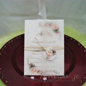 Poročna vabila Cvetje 113