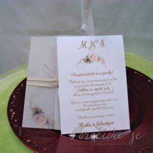 Poročna vabila Cvetje 113a