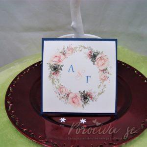 Poročna vabila Cvetje 119