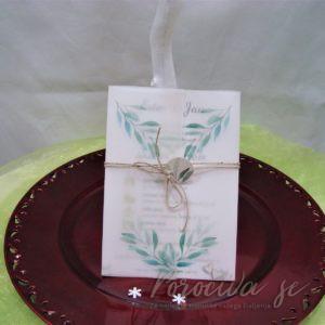 Poročna vabila Zelenje 107