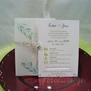 Poročna vabila Zelenje 107a