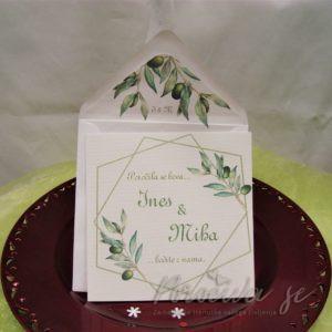 Poročna vabila Zelenje