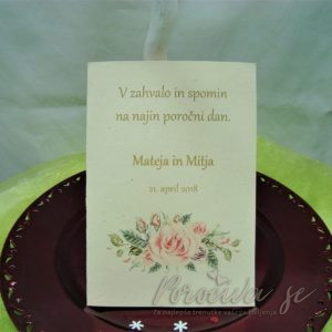 Poročna zahvala Cvetje 109