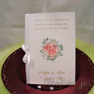 Poročna zahvala Cvetje 113