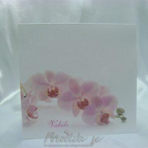Poročno vabilo Orhideja