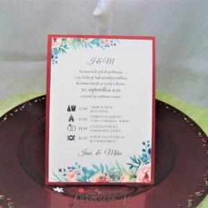 Poročna vabila Cvetje 085