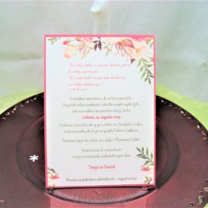 Poročna vabila Cvetje 102