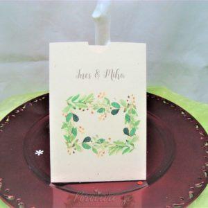 Poročna vabila Zelenje 105