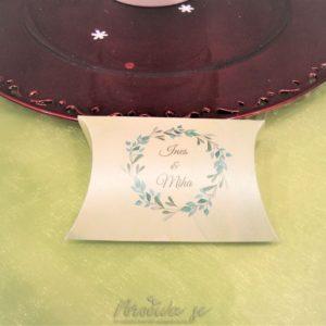 Poročni konfeti Škatlica blazinica 101