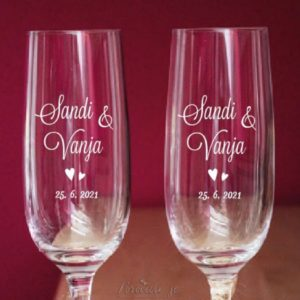 Poročni kozarci Srčka