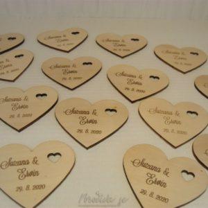 Leseni podstavki Srce