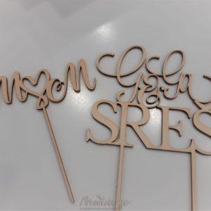 Leseni napis za na torto